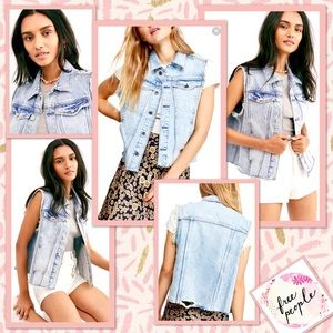 🌻 Free People Zoe Denim Vest by We The Free 🌻